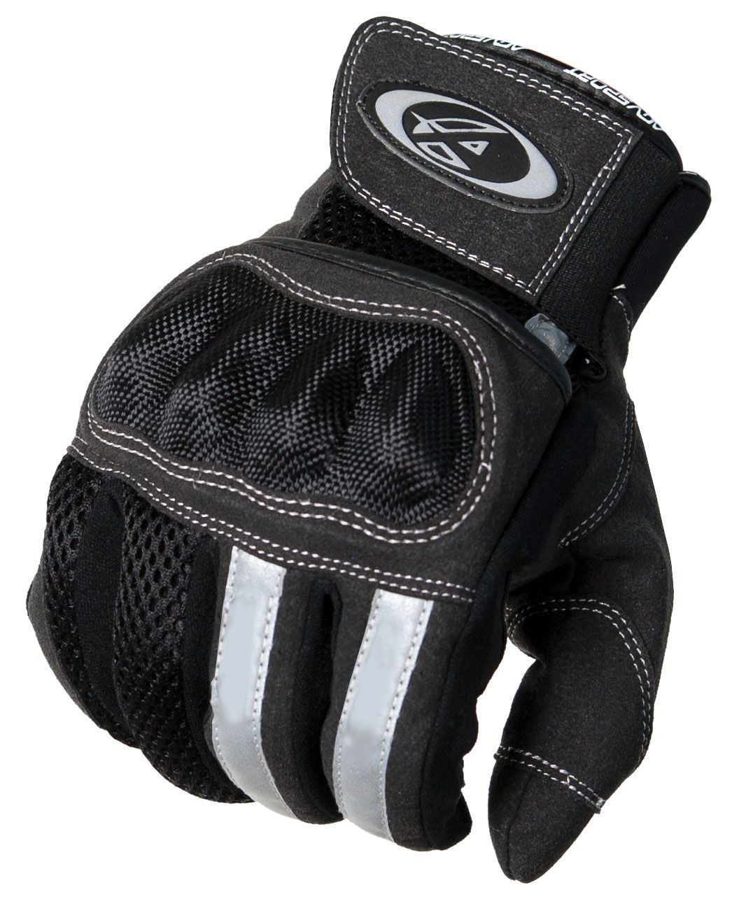 Motorcycle gloves mesh - New Agvsport Mercury Summer Motorcycle Gloves Black Knuckle Protection Mesh
