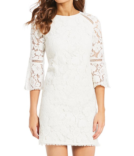 44++ White lace bell sleeve dress ideas in 2021