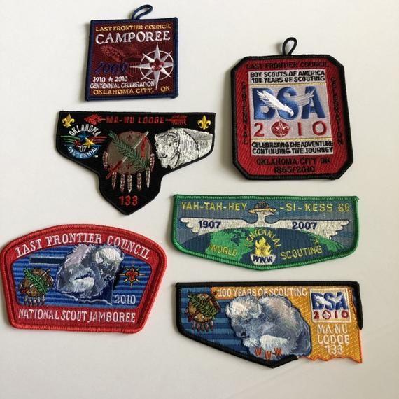 Oklahoma Centennial Celbration Badge Shoulder - American