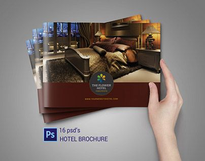 Check out new work on my @Behance portfolio  - hotel brochure template