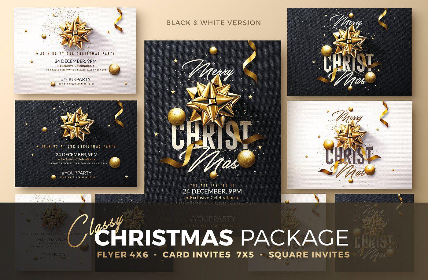Christmas Invitation Psd Package Christmas Invitations Invitations Christmas Packaging