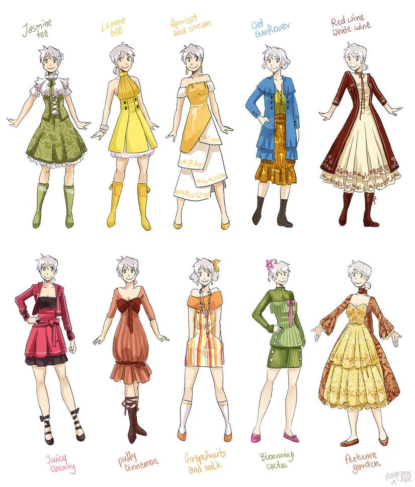 Various female clothes 2 by `meago on deviantART (With