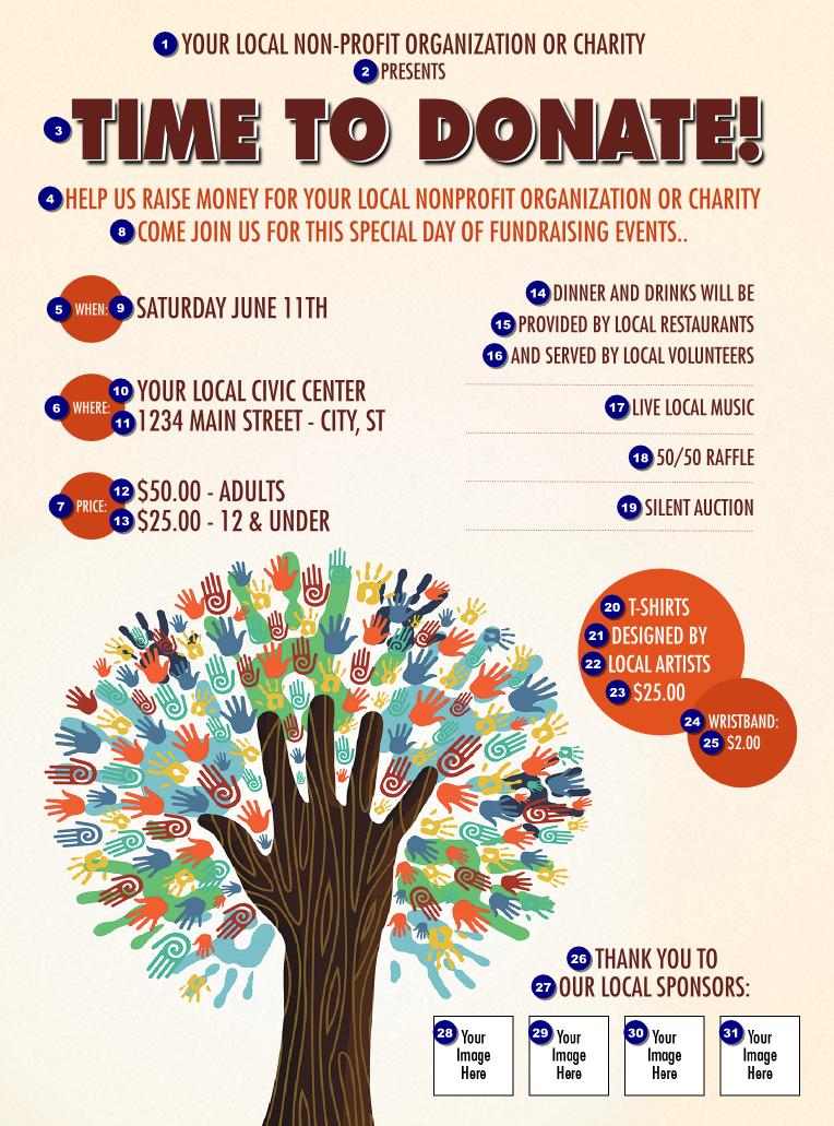 school fundraiser flyer template