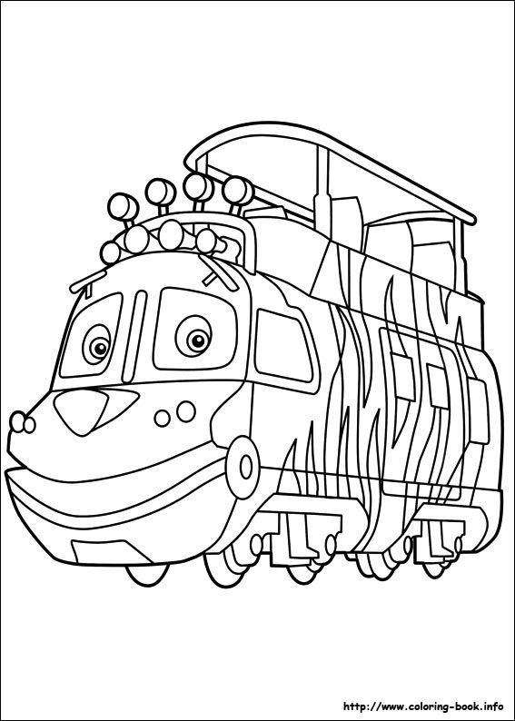 Chuggington coloring picture coloring and activities coloriage coloriage dessin anim dessin - Train dessin anime chuggington ...