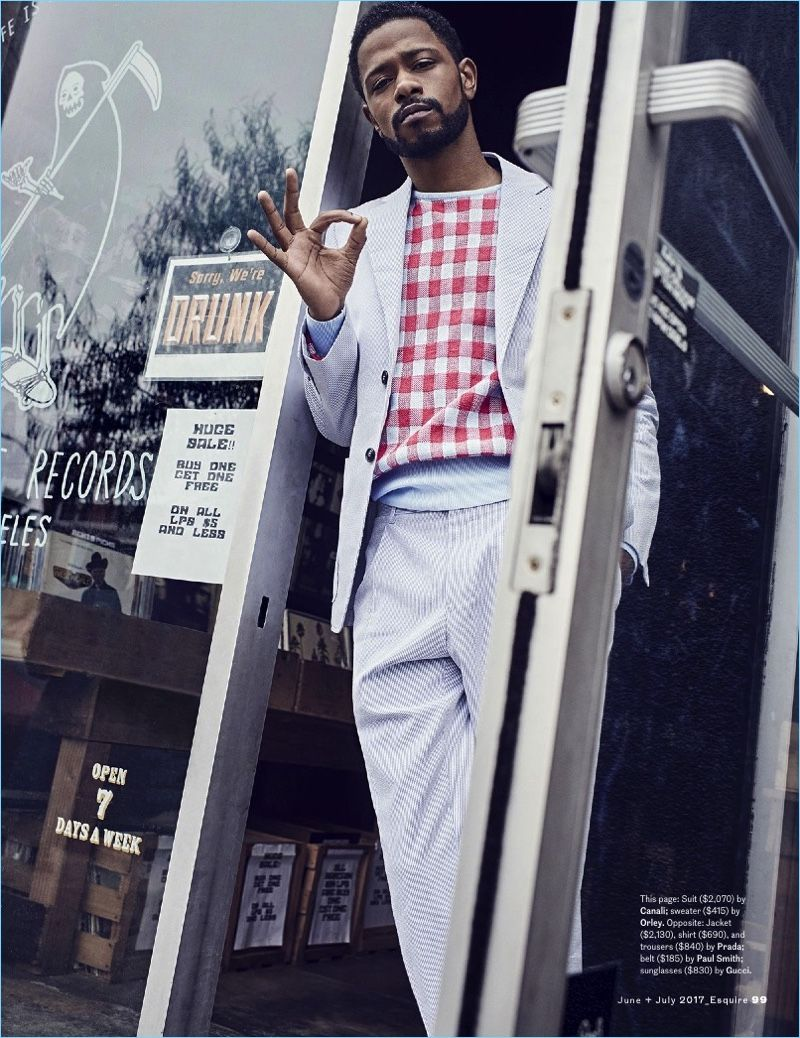 lakeith stanfield | Hang in There, Dude! Atlanta's Lakeith Stanfield Stars  in Esquire .