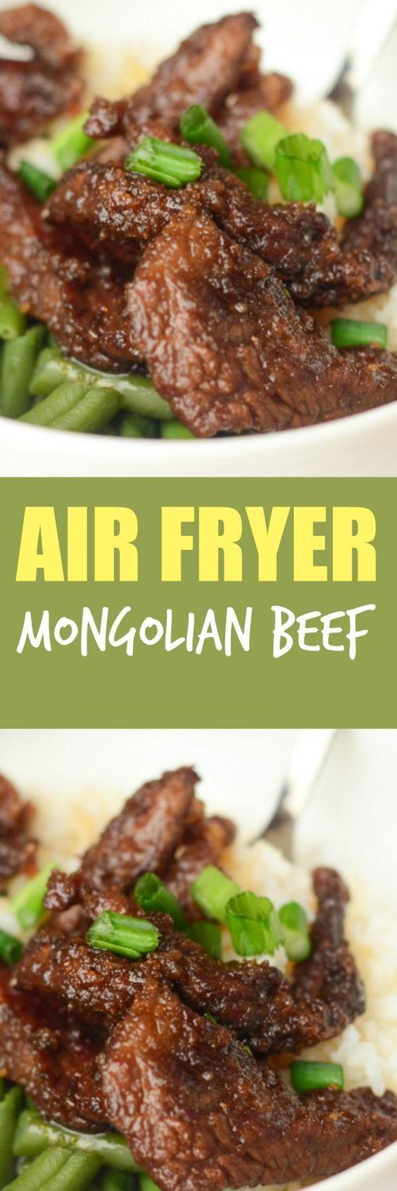 Air Fryer Mongolian Beef Recipe Air Fryer Recipes Healthy Air Frier Recipes Air Fryer Oven Recipes