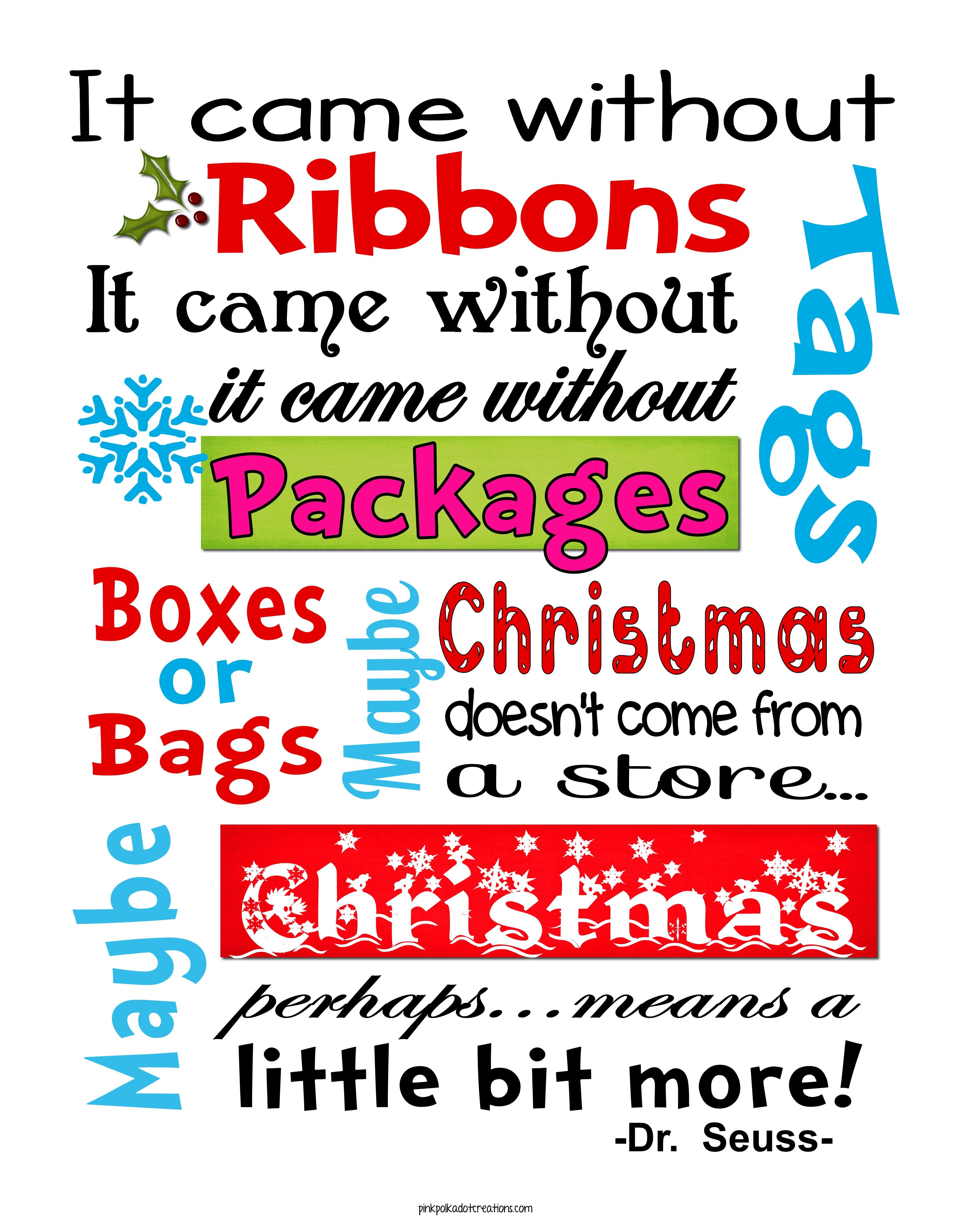 Whimsical Christmas Frame and Free Printables | Christmas ...