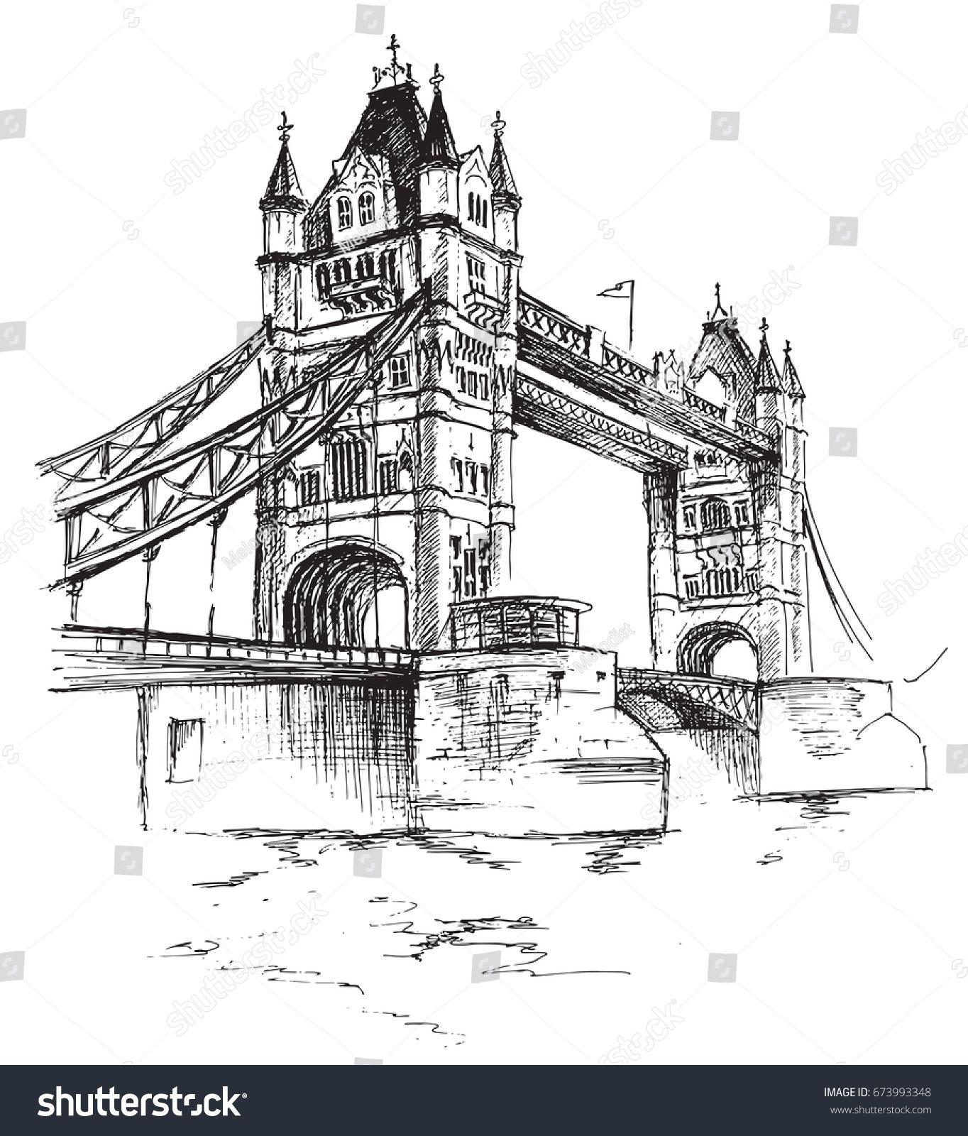 London Bridge Coloring Page