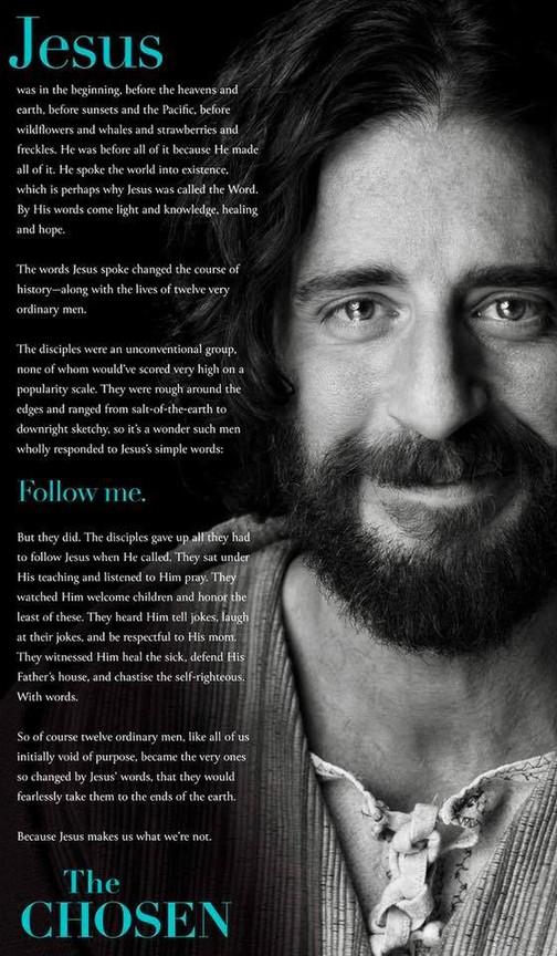 The Chosen Rotten Tomatoes Jesus Choose Quotes Catholic Faith Prayer