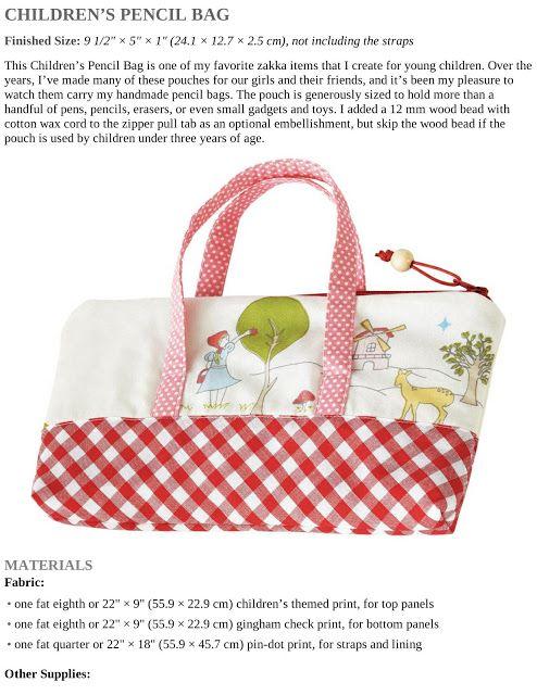 Children\'s Pencil Bag. DIY tutorial   BOLSOS,MONEDEROS Y LLAVEROS ...