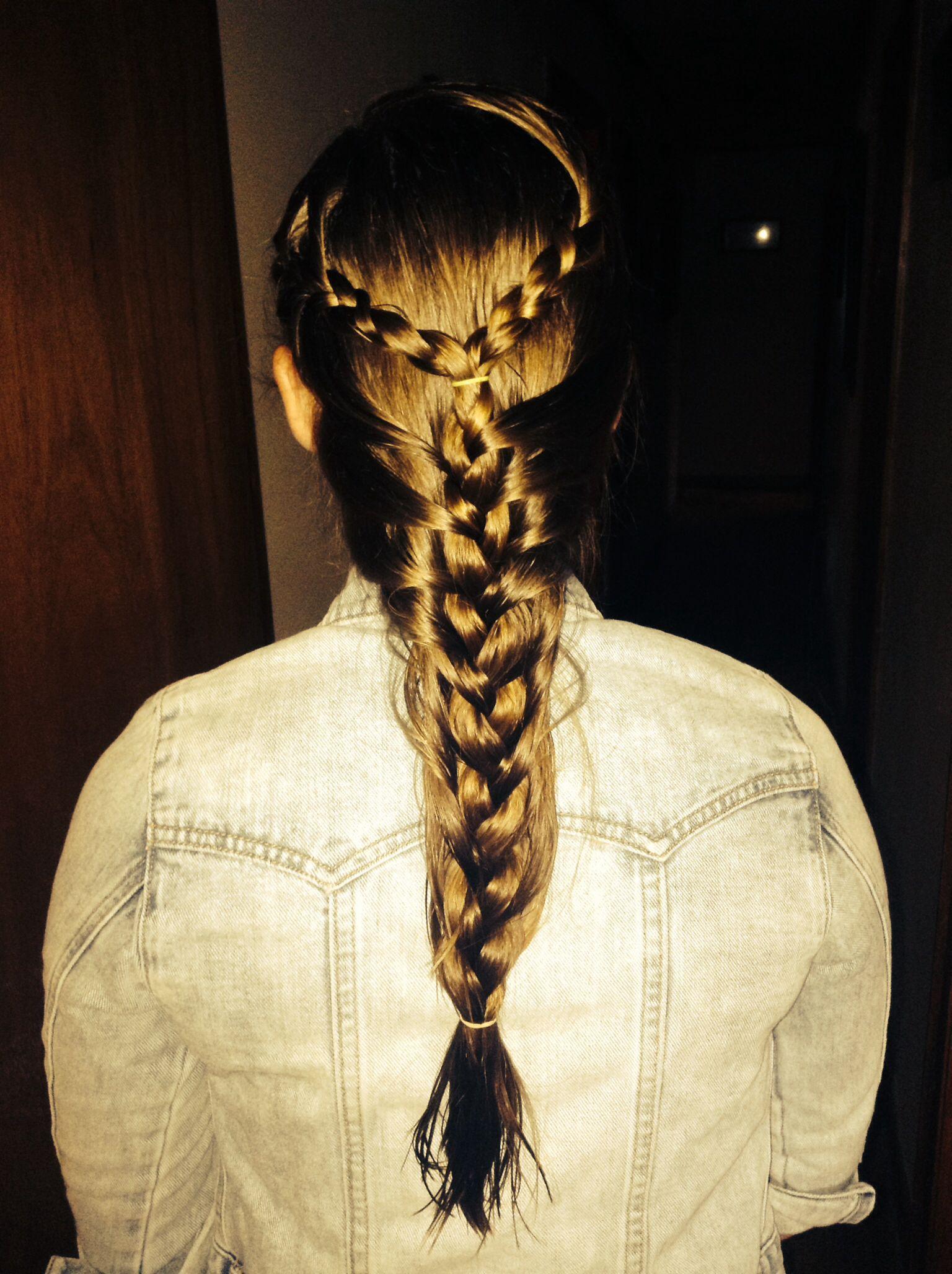 Thick french mermaid braid i did myself style pinterest