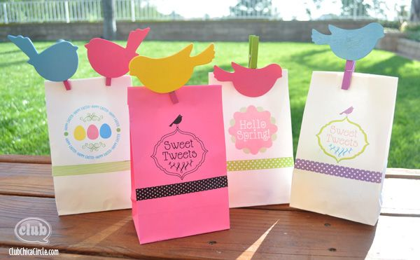 Easter gift for teacher spring and easter paper bag printing ideas spring and easter gift bags craft idea print directly on the bag negle