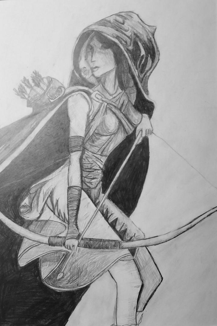 Art Goddess Drawing Pose Reference Bow