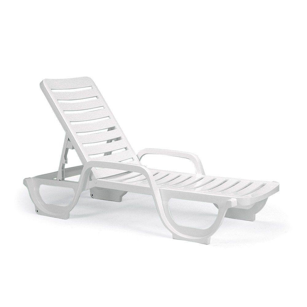 Grosfillex 44031104 44031004 Bahia White Stacking Adjustable