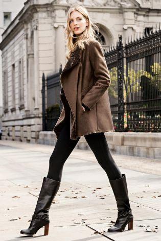 Acquista Giacca in montone marrone con pelliccia sintetica online ...