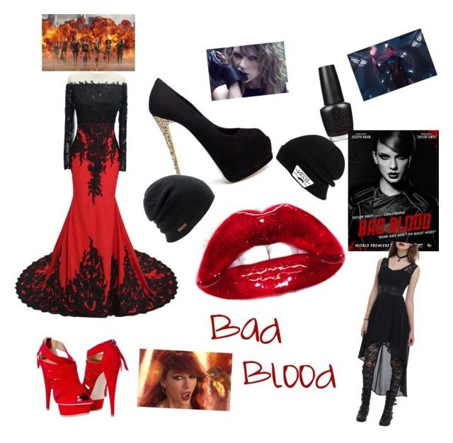 """Bad blood"" by treelights29 ❤ liked on Polyvore featuring interior, interiors, interior design, home, home decor, interior decorating, Giuseppe Zanotti, OPI, Tripp and Coal"