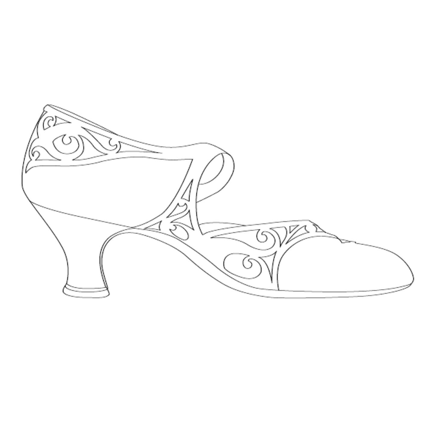 Image For The Resource Dance Shoe Template
