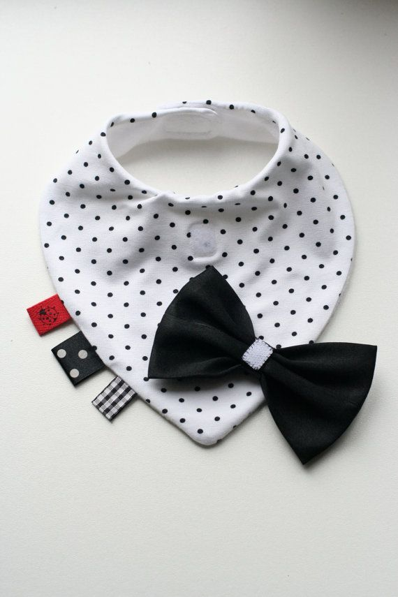 Baby dribble bib removable tie / bow tie, nice baby shower, baptism ...