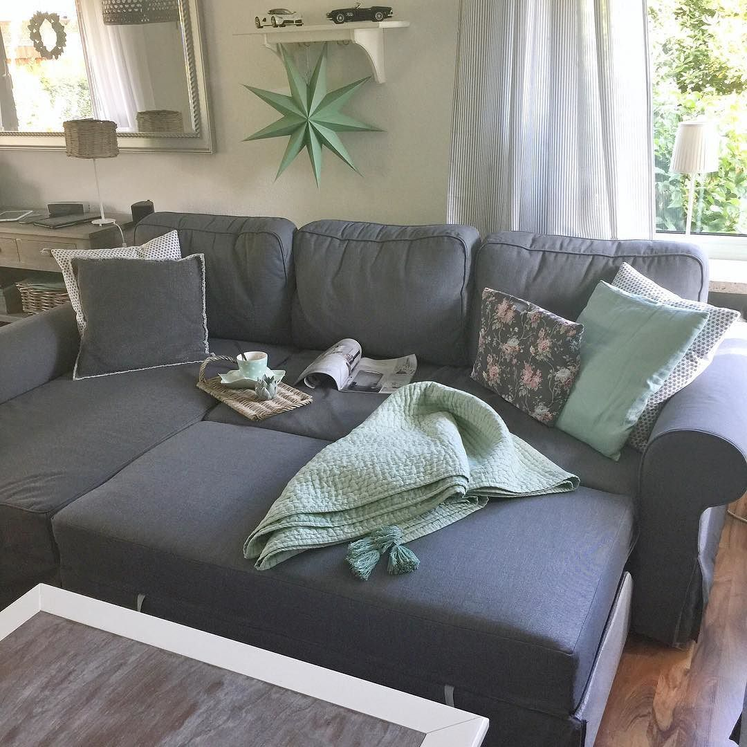 couch#sofa#schlafsofa#grau#mint#cozyhone#houseno43#blogger ...
