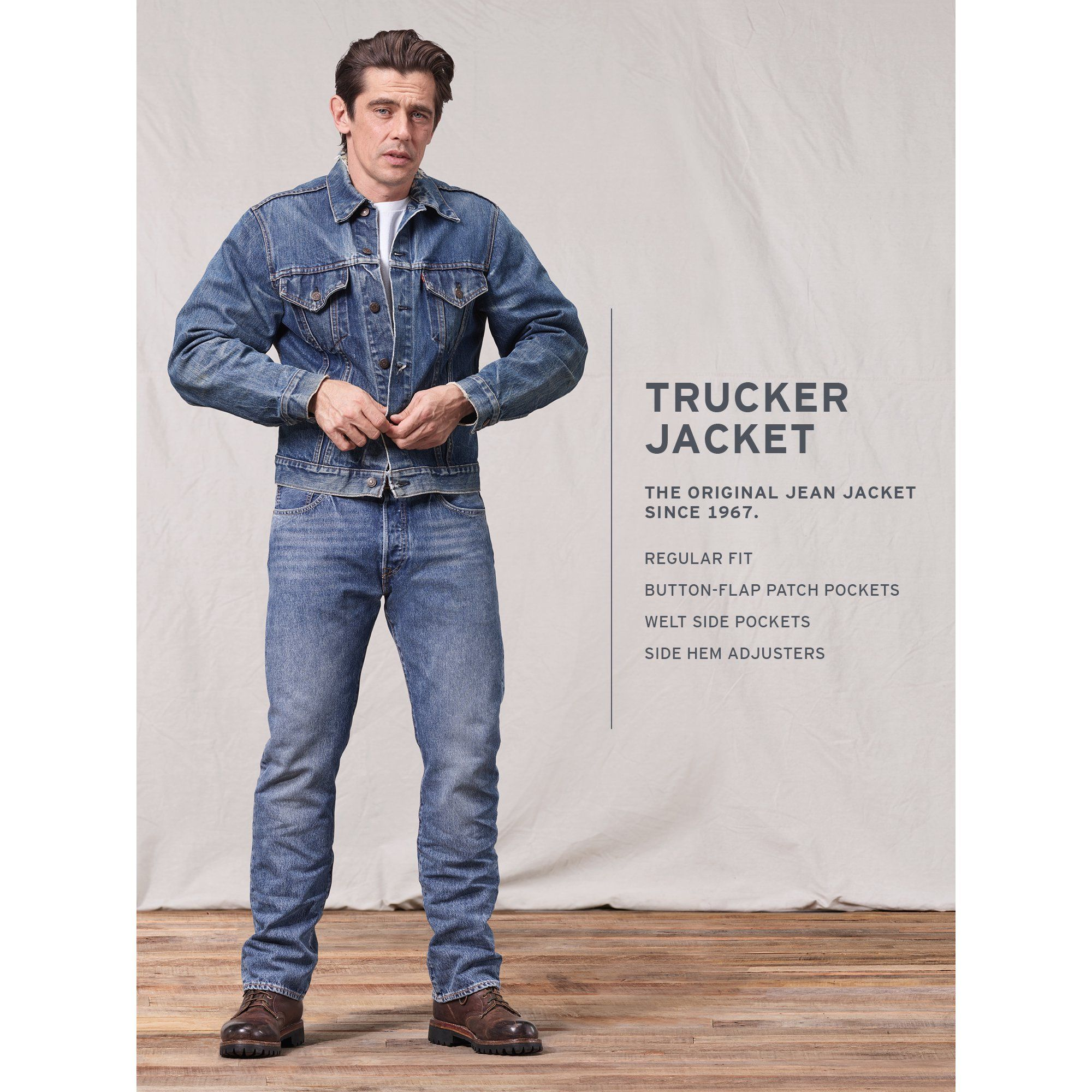 Levi S Levi S Men S Denim Trucker Jacket Walmart Com In 2021 Trucker Jacket Trucker Jacket Men Mens Denim [ 2000 x 2000 Pixel ]