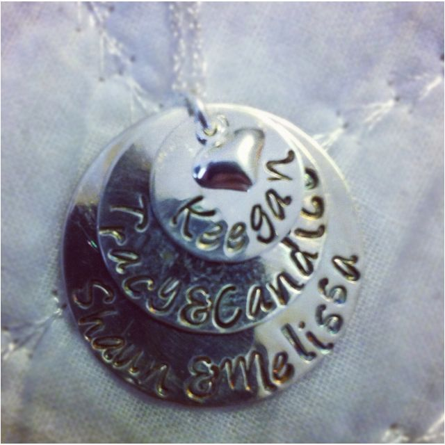 The necklace I had made for my Mom for Mothers Day! I highly recommend---- tinylovetreasures.etsy