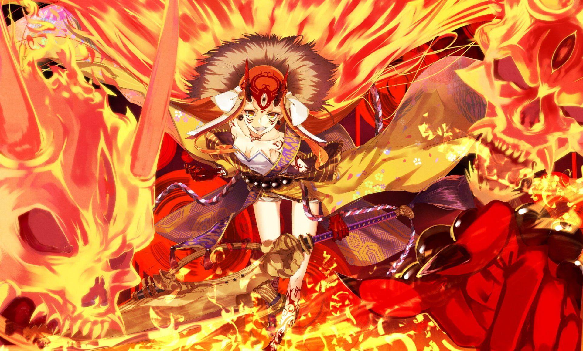 Fate Series Fate Grand Order Ibaraki Douji 1080p Wallpaper Hdwallpaper Desktop Ibaraki Fate Fate Characters Fate grand order wallpaper
