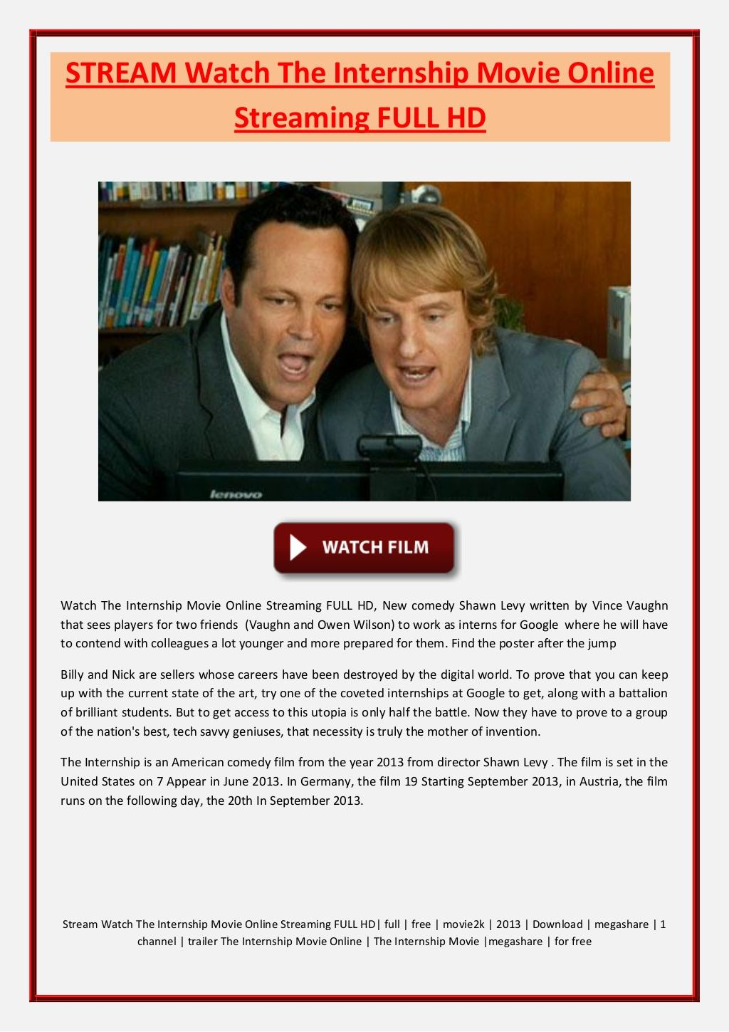 httpwwwslidesharenetinternshipmovie1stream watch the internship movie online streaming full hd stream watch the internship movie online str