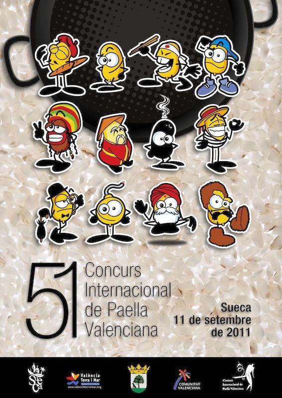Cartel oficial del 51 Concurs Internacional de Paella Valenciana de Sueca 2011