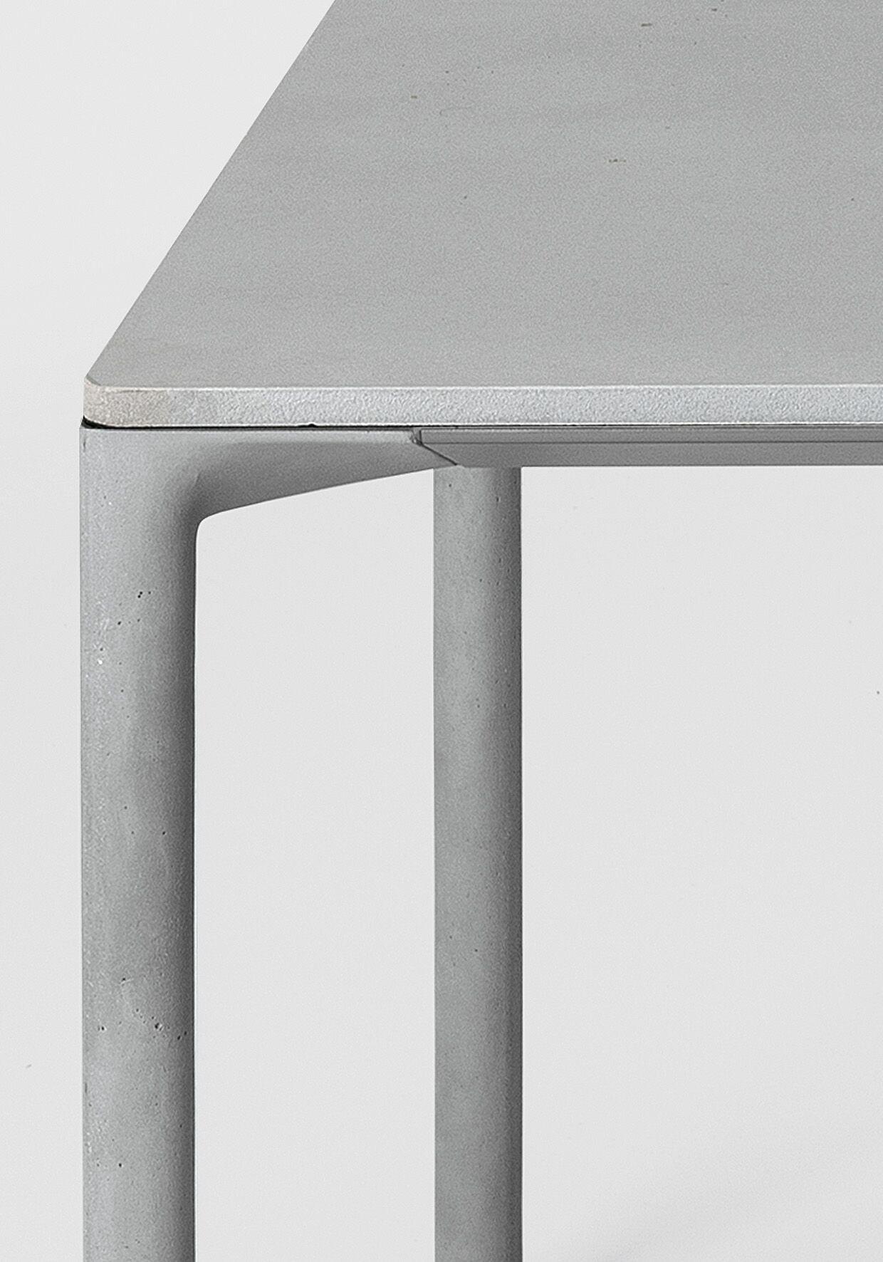 Boiacca Table In Cement Or Fenix Ntm Or Pure White Laminate Eettafel Ontwerp Eettafel Ontwerp [ 1772 x 1240 Pixel ]