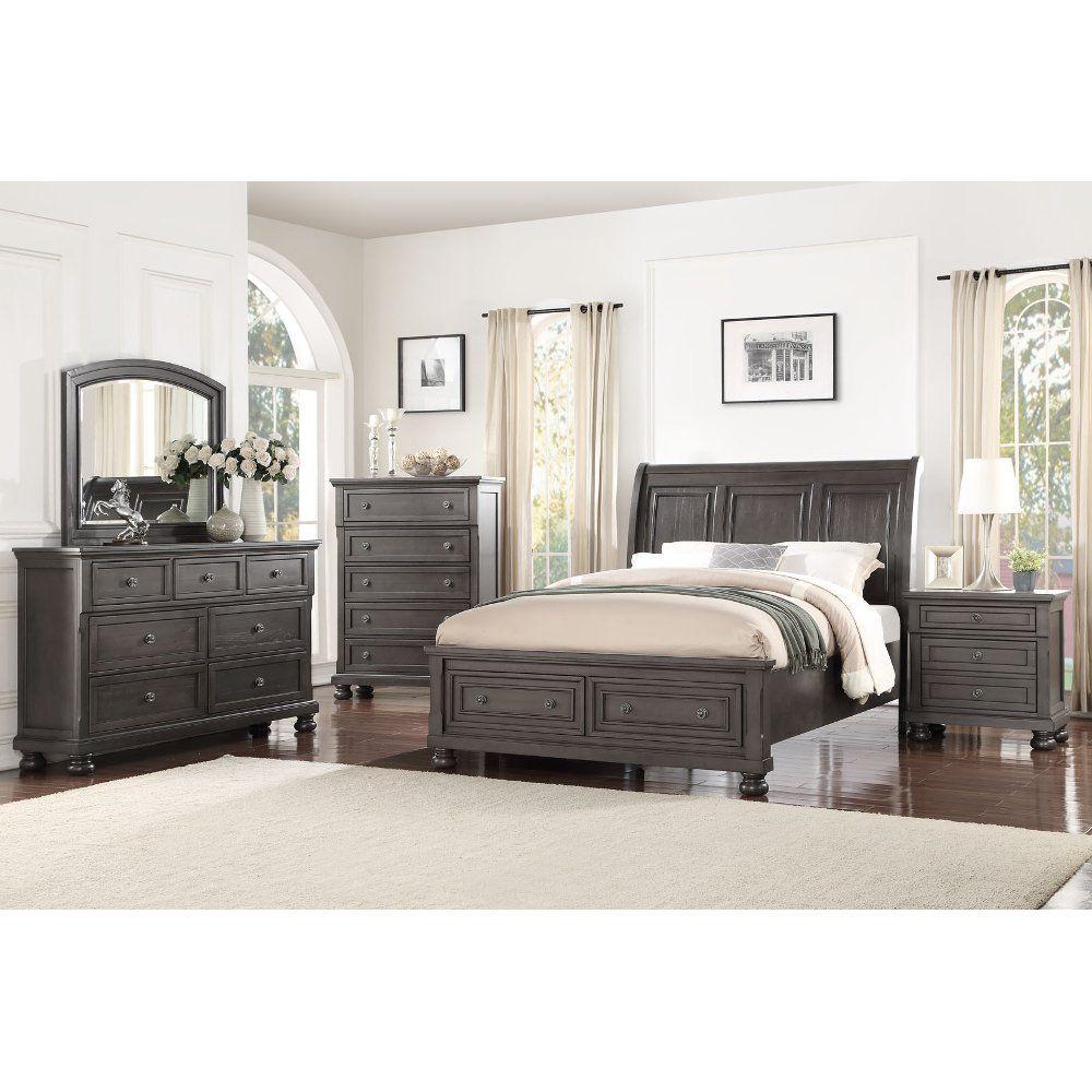 Best Classic Traditional Gray 4 Piece Queen Bedroom Set 400 x 300