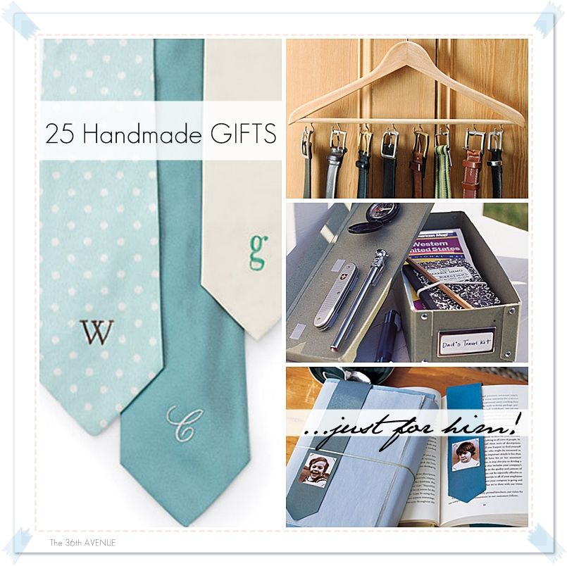 Handmade Gift Tutorials For Men Gifts For Him The