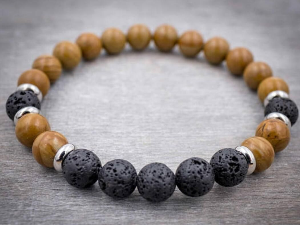 Bloodstone mm mala lucky bracelet beads men pray buddhist yoga
