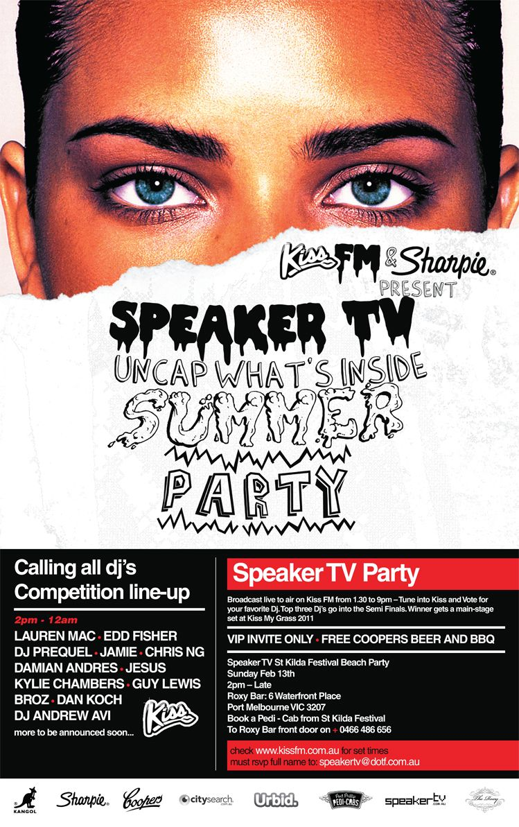 Poster design event - Speaker Tv Uncap What S Inside Live Art Design Poster Contest After Party