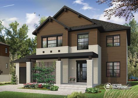 Détail du plan de Maison unifamiliale W3720 Prairie Homes Pinterest