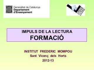 El treball de la competència lectora (ILEC)