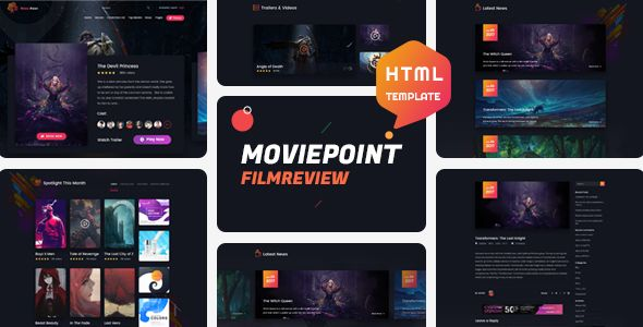 Moviepoint Is Modern And Clean Html Template Its Fully Responsive