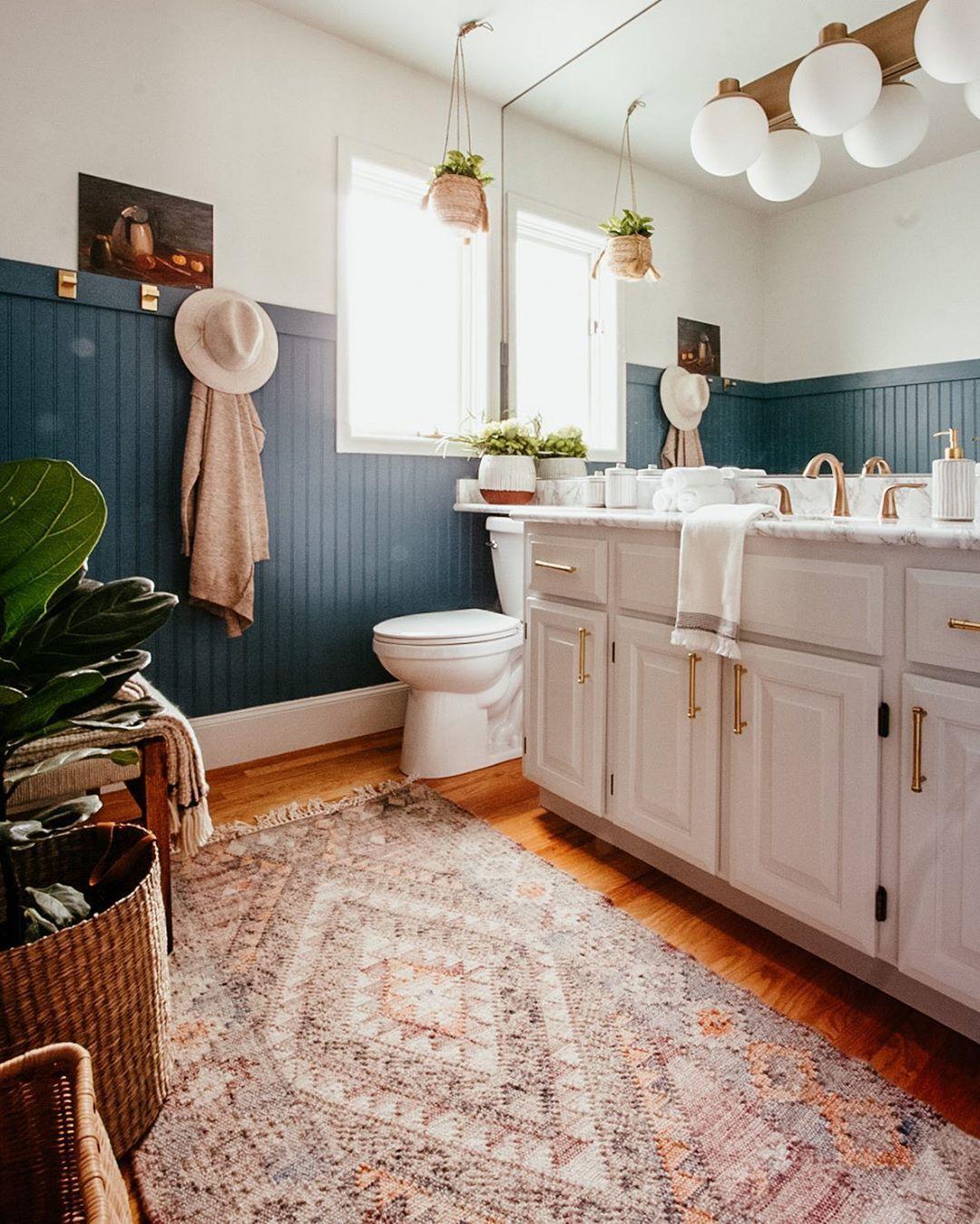 Diy Beadboard Bathroom Reveal In 2020 Beadboard Bathroom Modern Bathroom Renovations Bead Board Walls