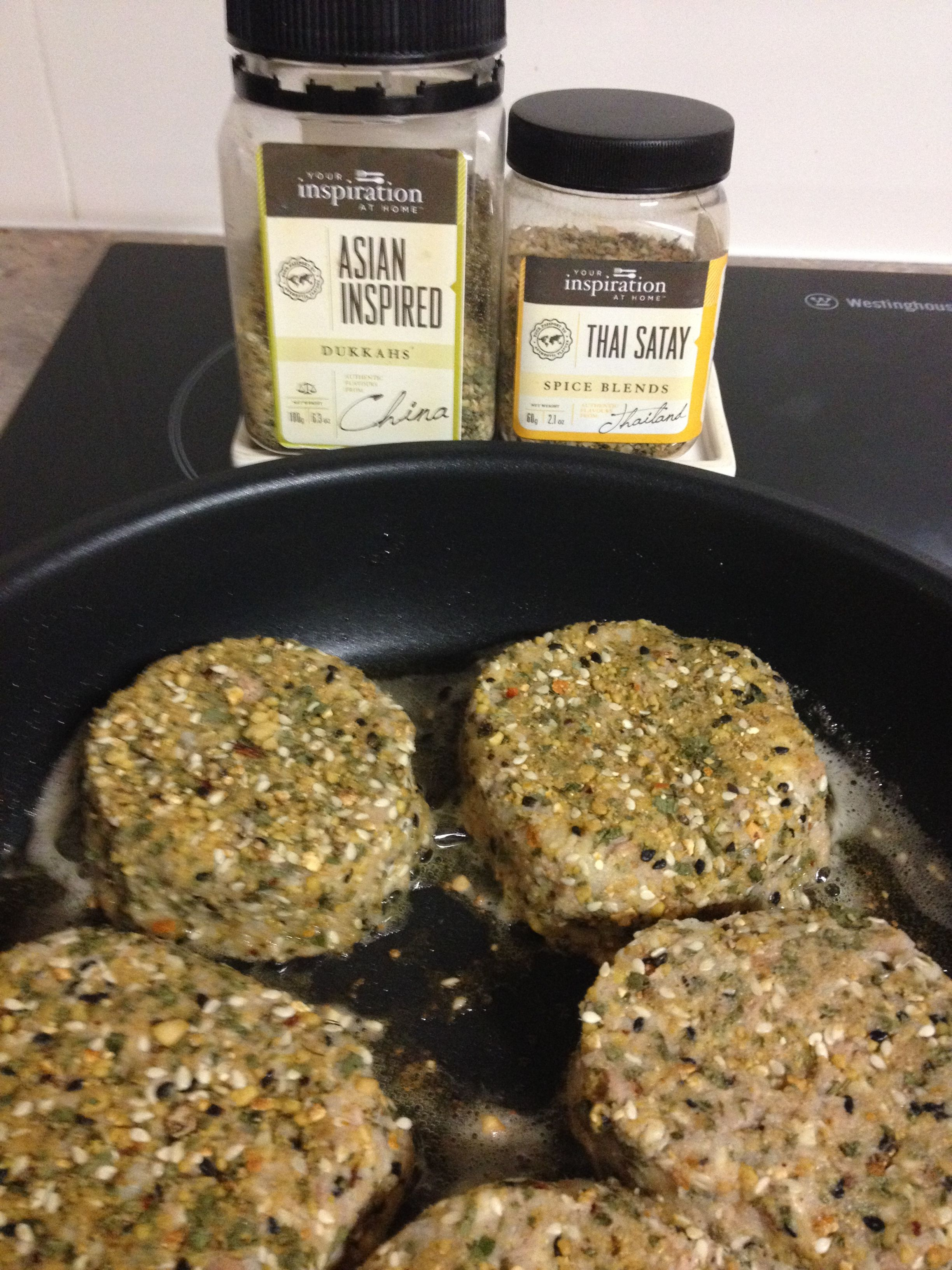 These I will freeze for later - YIAH Thai Satay Fish cakes with YIAH Asian Inspired Dukkah
