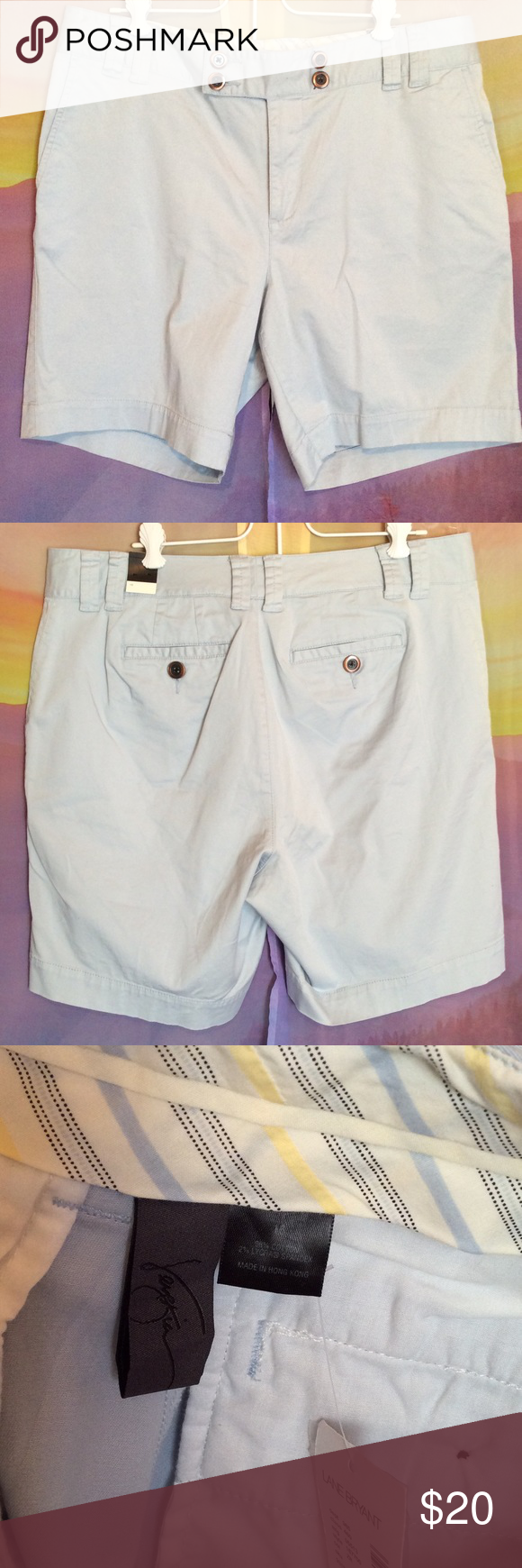 Venezia baby blue summer vacation shorts Super cute blue Bermuda shorts. Size 16. New with tags's from Lane Bryant. Light colored baby blue. Great for walking, vacations and summer! Venezia Shorts