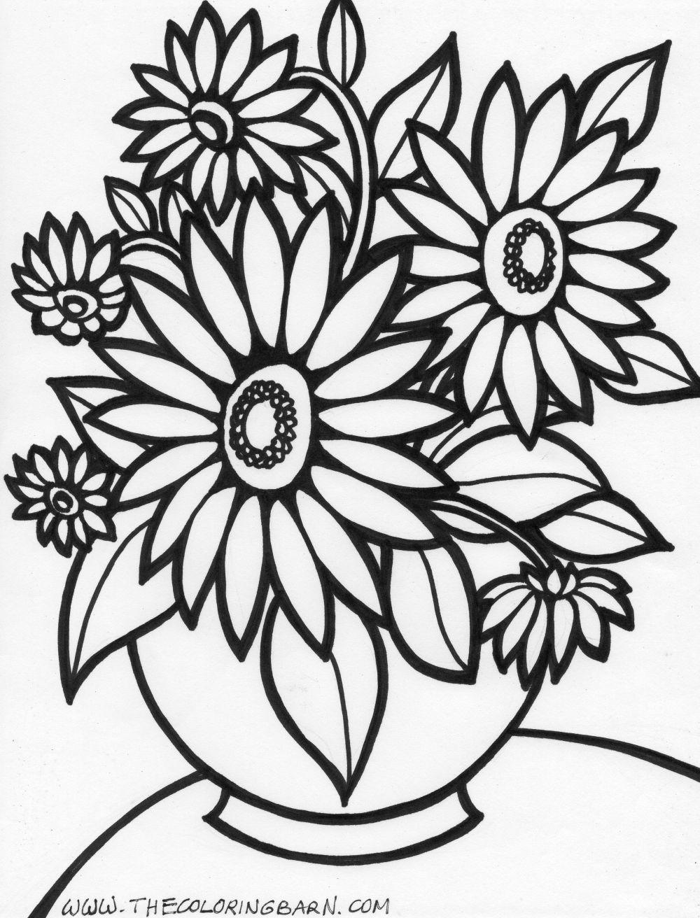 Flower Coloring Pages | Moldes para Imprimir | Pinterest | Molde y ...