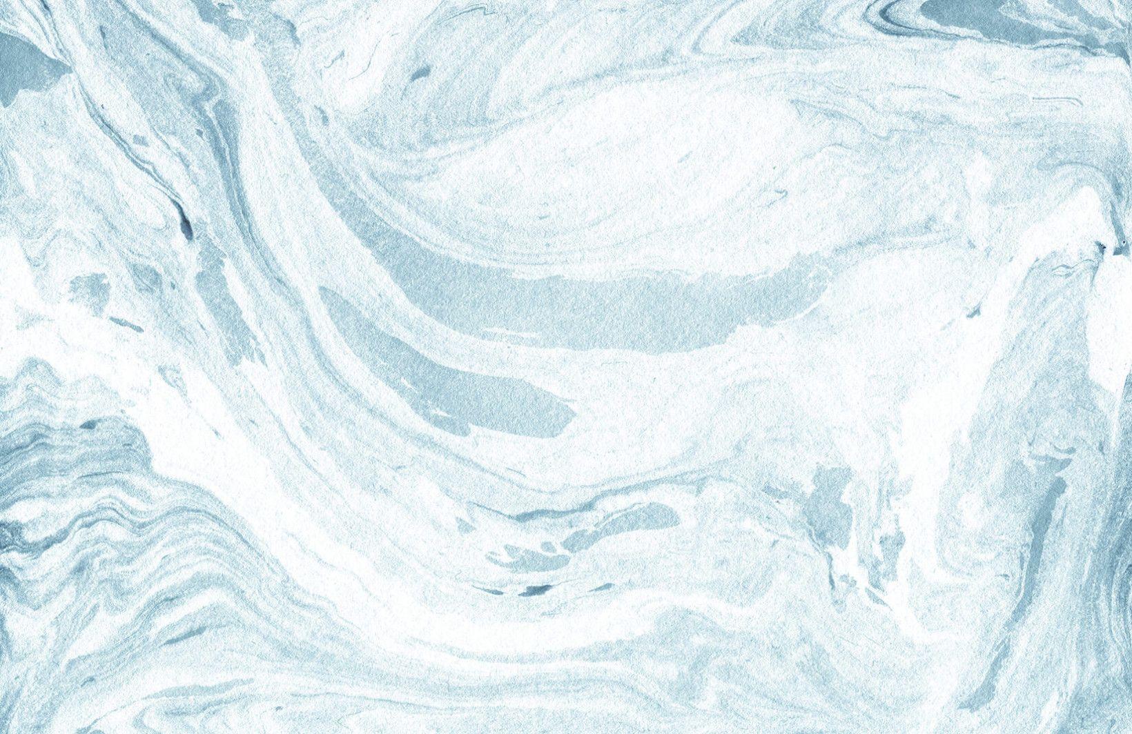 Blue And White Marbleized Wallpaper Mural Murals Wallpaper Blue Marble Wallpaper Marble Desktop Wallpaper Aesthetic Desktop Wallpaper