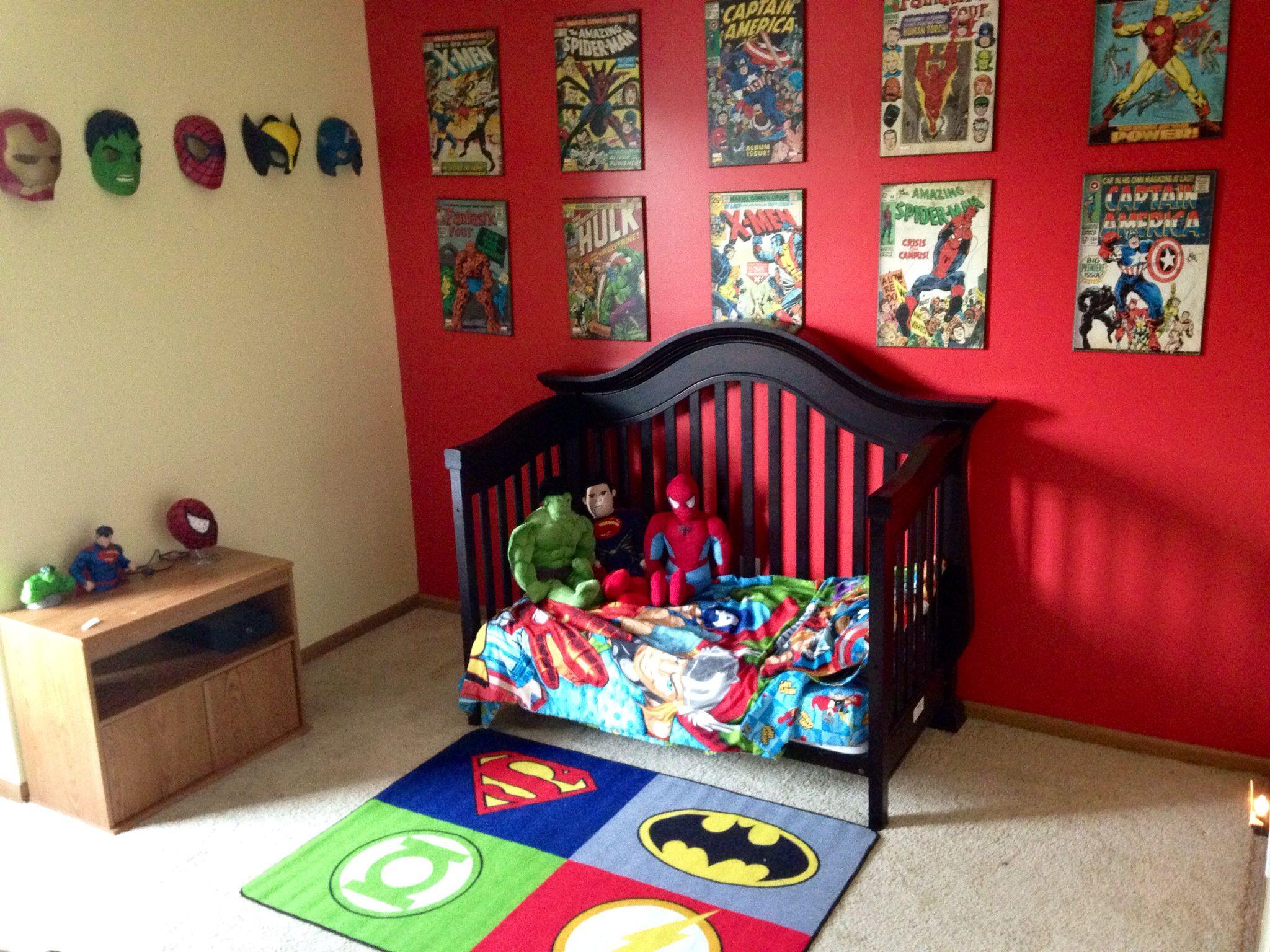 Super hero room | Comic Book Room | Superhero room, Teen ...
