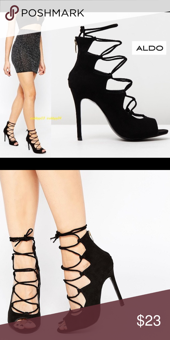 Aldo lace up heels   Lace up heels