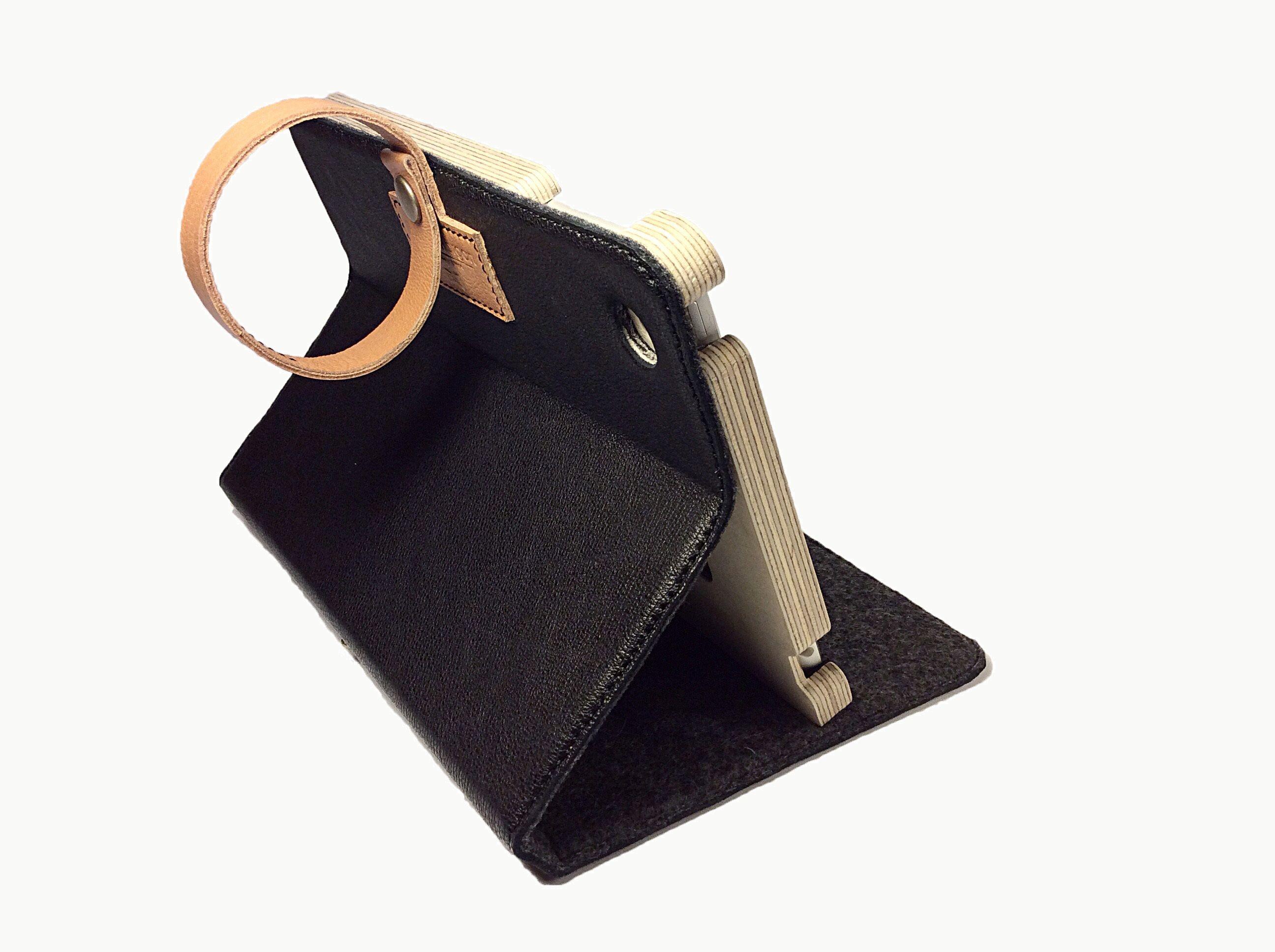 premium Italian Buffalo leather / 100% wool felt /  cut and sewn entirely in hand