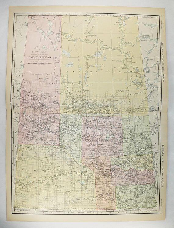 Large Old Map Saskatchewan Canada Saskatchewan Map Large - Old map of canada