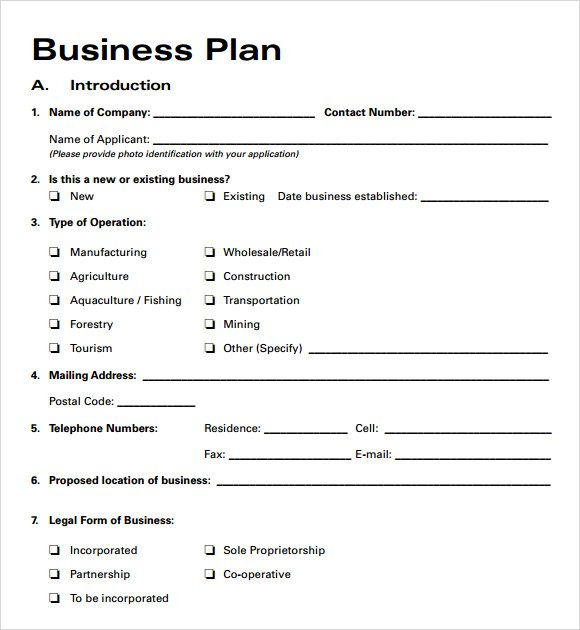 Business Plans For New Business  The Best Estimate Connoisseur