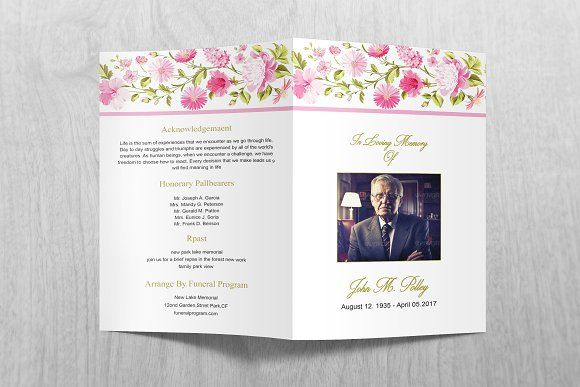 Funeral Program Template Creativework  Brochure Design