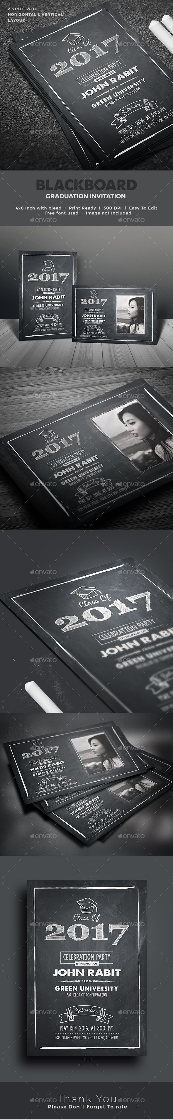 Graduation Invitation | Invitation card design, Template and Fonts