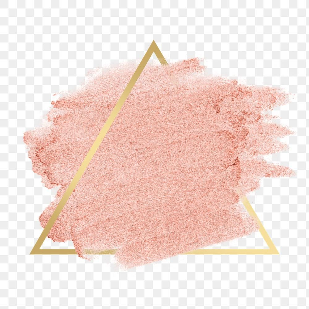 Rose Gold Pink Metallic Brush Stroke With Gold Frame Free Image By Rawpixel Com Karn Rose Gold Pink Watercolor Splash Png Gold Frame
