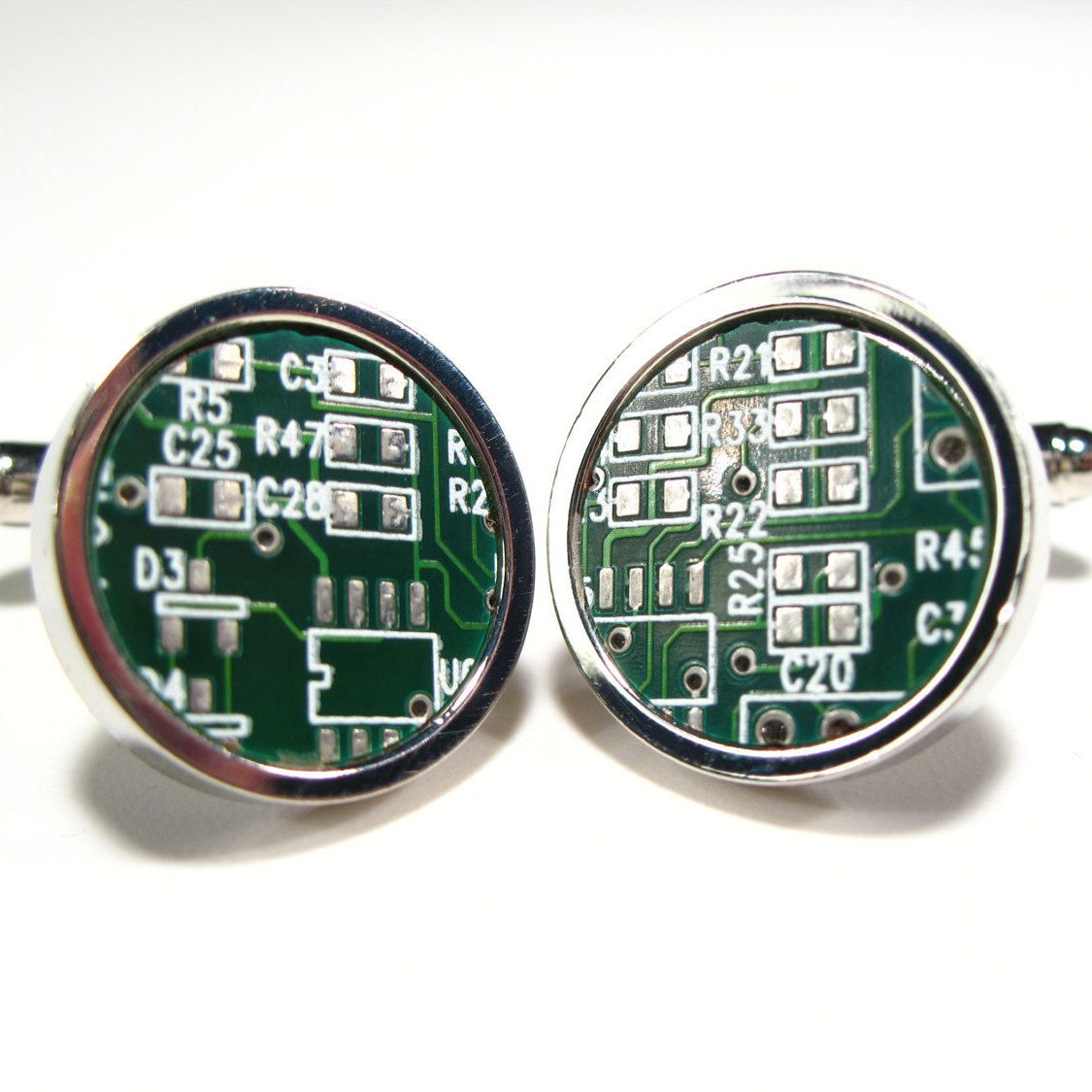 Circuit Board Cufflinks Dark Green Gift For Him Geek Jewelry Etsy Handmade Cufflinks Geek Jewelry Geek Stuff